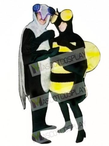 Mosquito(on the left) Mascot Costume