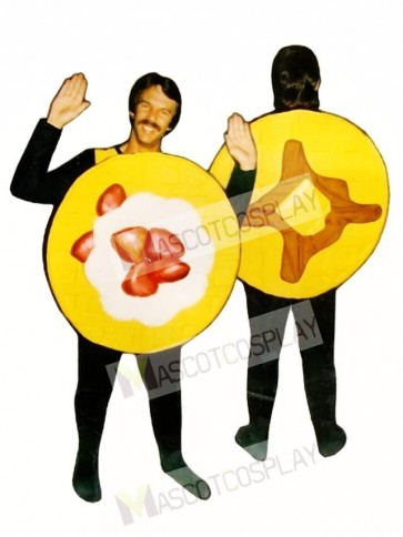 Waffle Mascot Costume