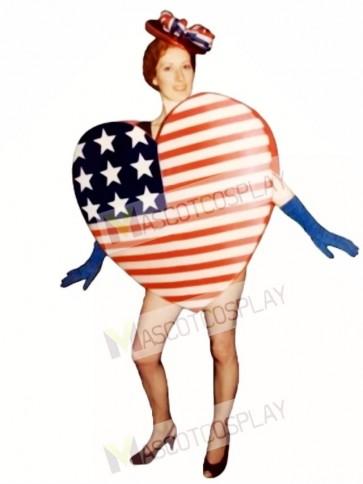 Cute Heart of America Mascot Costume