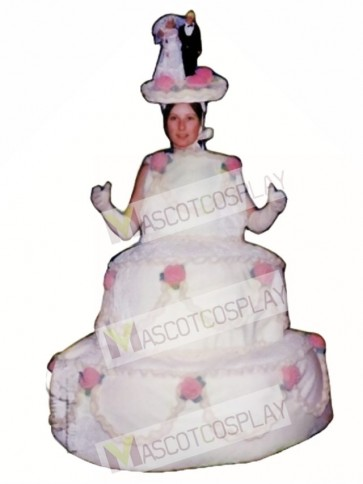 Three Layer Cake Mascot Costume