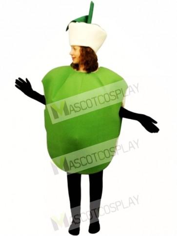 Green Apple Mascot Costume
