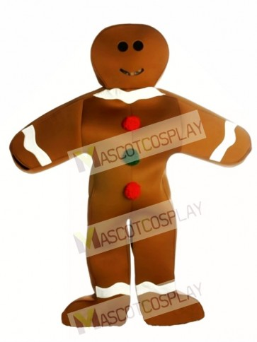 Gingerbread Man Christmas Mascot Costume
