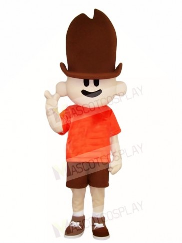 Tall Hat Boy Mascot Costumes