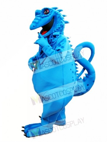 Blue Lizard Mascot Costume Blue Iguana Mascot Costume