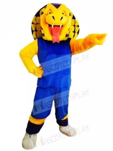 Blue Shirt Sports Snake Mascot Costumes Animal