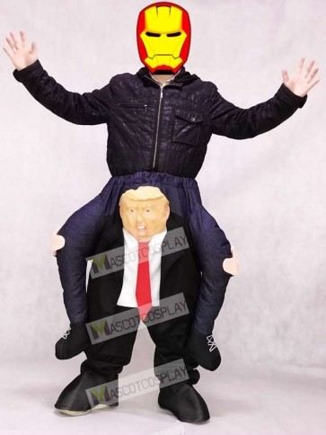 Piggyback US President Carry Me Ride Trump Mascot Costume