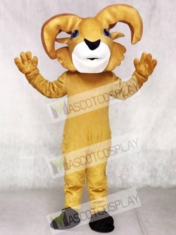 Yellow Ram Mascot Costumes Animal
