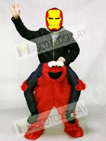 Elmo Carry Me Ride Sesame Street Red Monster Piggyback Mascot Costume