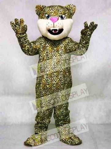 Pink Nose Leopard/Cheetah/Jaguar Mascot Costume