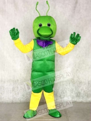 Green Worm Mascot Costumes Insect