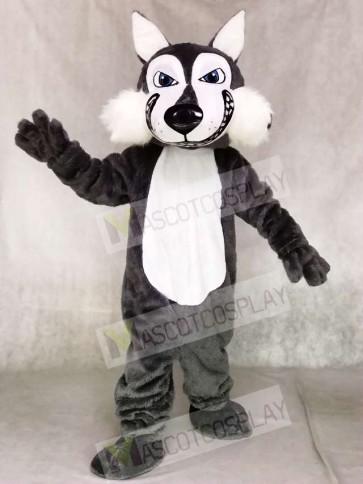 Dark Gray Wolf Mascot Costumes Animal