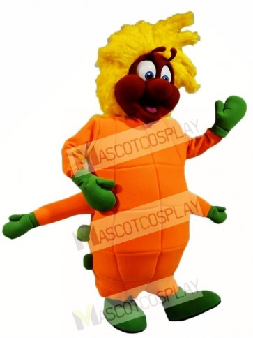 Orange Caterpillar Mascot Costumes Insect