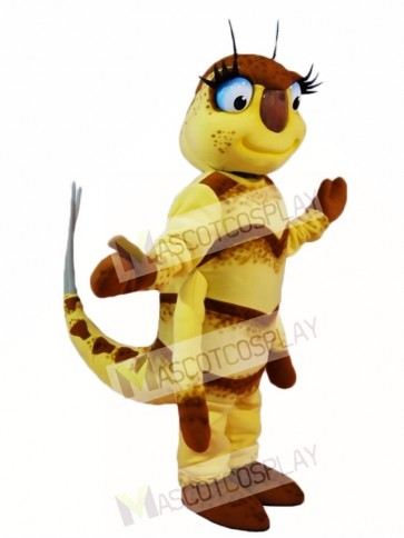 Yellow Fly Mascot Costumes Insect