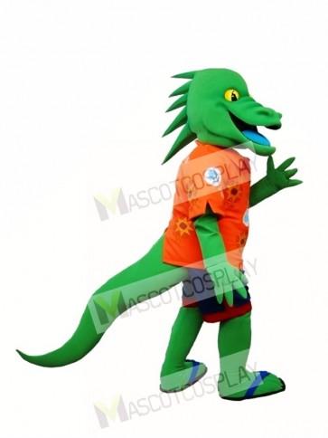 Green Lizard Mascot Costume Green Iguana Mascot Costume Animal