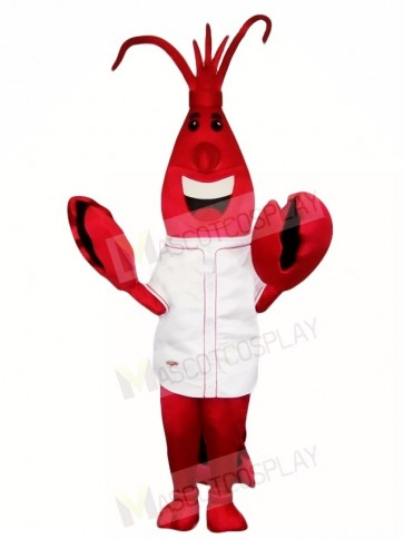 Red Lobster Mascot Costumes in White Shirt Sea Animal