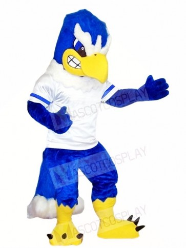 Royal Blue Falcon Eagle Mascot Costumes Bird Animal