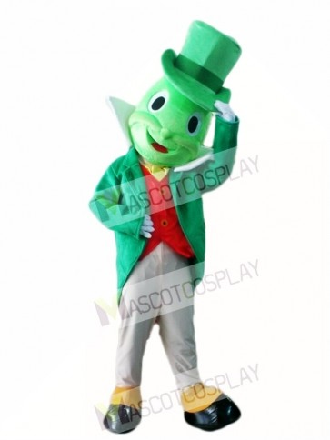 Green Jiminy Cricket Mascot Costumes Insect