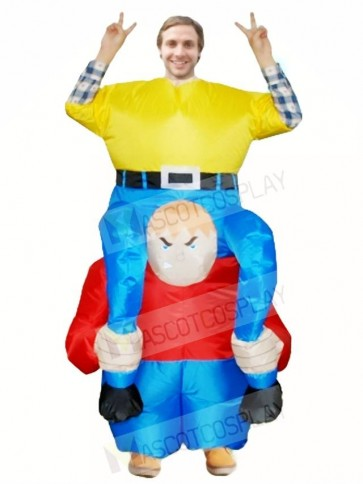 Dwarf Carry me Ride on Inflatable Halloween Xmas Costumes for Adults