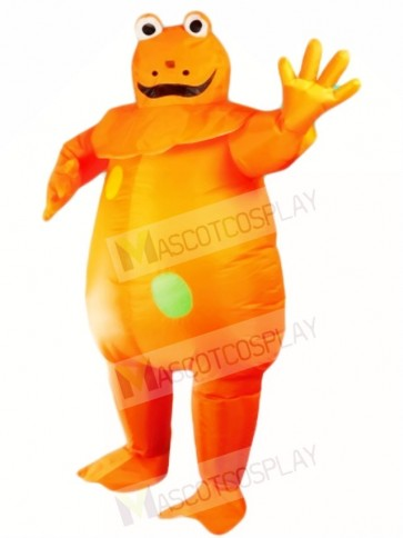Orange Frog Inflatable Halloween Xmas Costumes for Adults