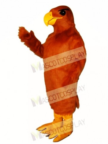Cute Golden Hawk Mascot Costume