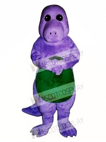 Purple Dinosaur Mascot Costume
