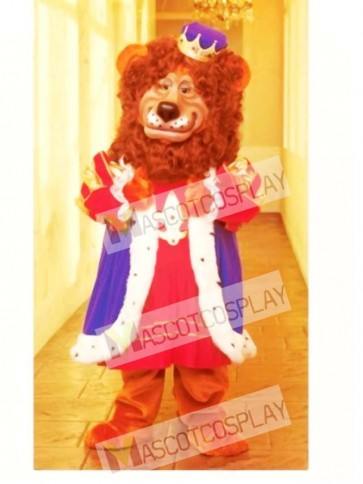 Cute Louie Lion Mascot Costume