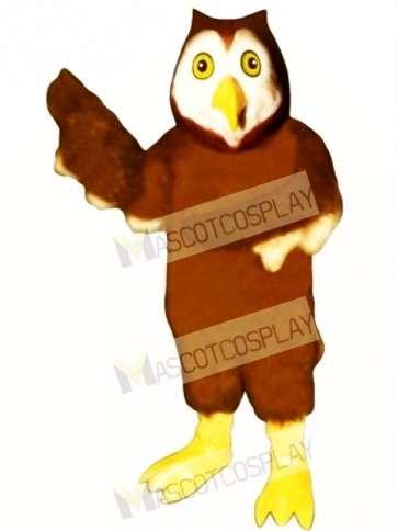 Cute Horned Owl Mascot Costume