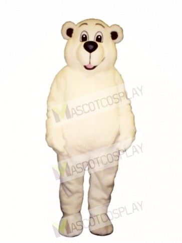 Johnnie Polar Bear Mascot Costume