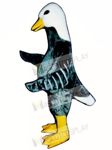 Cute Grey Goose Mascot Costume