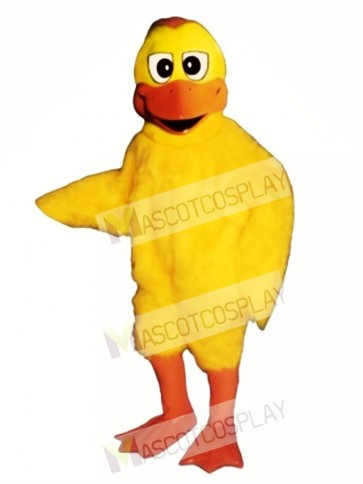 Cute Dumb Duck Mascot Costume