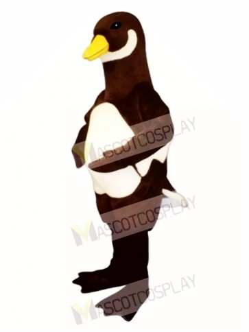 Cute White Belly Goose Mascot Costume