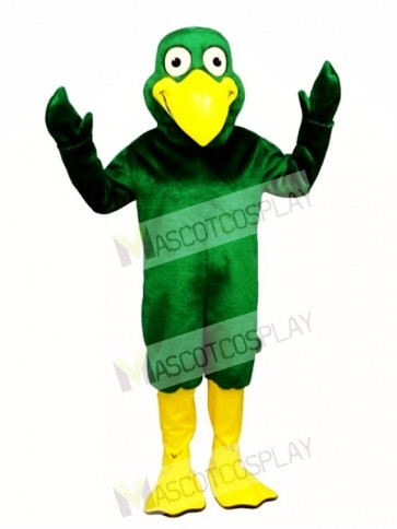 Cute Greenie Bird Mascot Costume