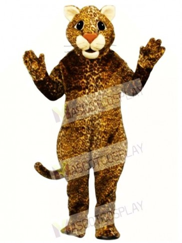 Cute Leaping Leopard Mascot Costume
