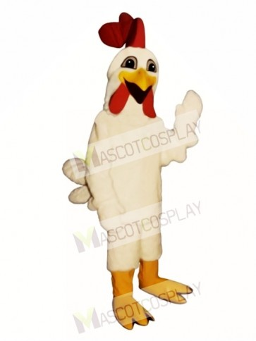 Cute Laughing Rooster Mascot Costume