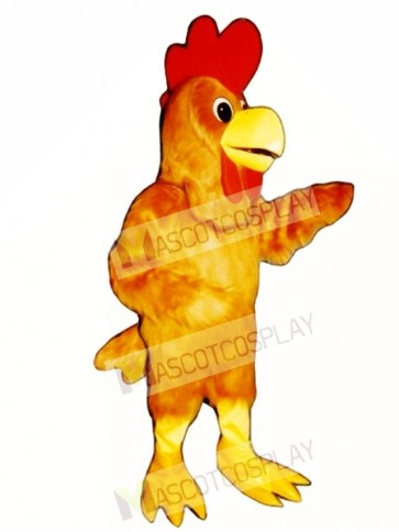 Cute Rusty Rooster Mascot Costume