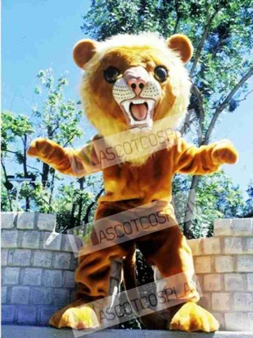 Cute Big Cat Lion Mascot Costume