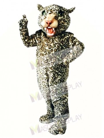 Cute Big Cat Leopard Mascot Costume