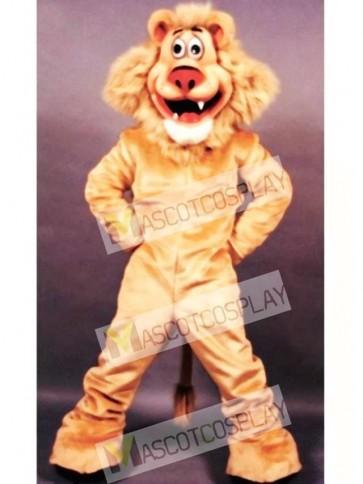 Cute Lionel Lion Mascot Costume
