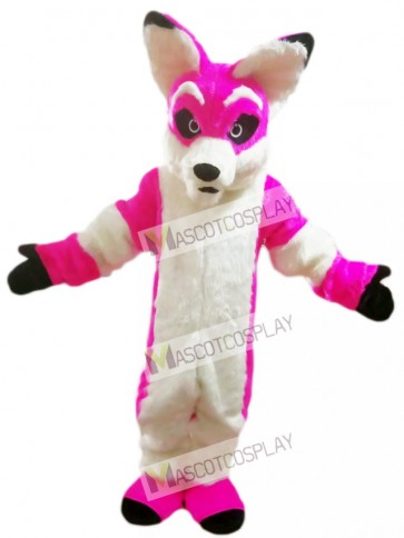 Pink Husky Dog Fox Mascot Costume