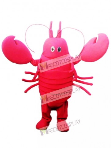 Red Crayfish Mascot Costume Seafood