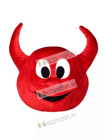 Halloween Red Evil Devil Mascot HEAD ONLY