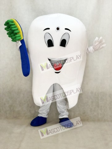 Hot Sale Adorable Realistic New Tooth Mascot Adult Costume Tooth Dental Care Birthday Party Fancy Dress Outfit
