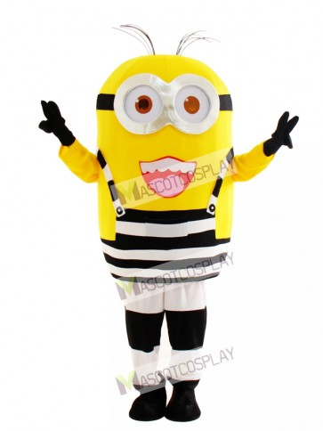 Two Eyes Happily Minion in Prison Despicable Me Mascot Costume