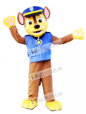 Chase Paw Patrol Mascot German Shepherd Dog Police and Traffic Cop