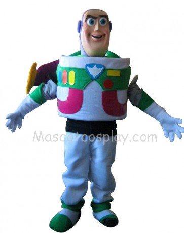 Buzz Lightyear Toy Story Mascot Adult Costume Fancy Dress Outfit