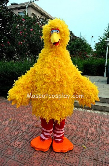 Sesame Street Big Bird Mascot Character Costume Fancy Dress Outfit