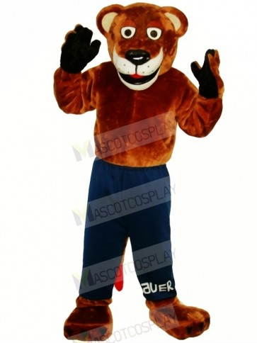 Funny Strong Leopard Mascot Costumes Adult