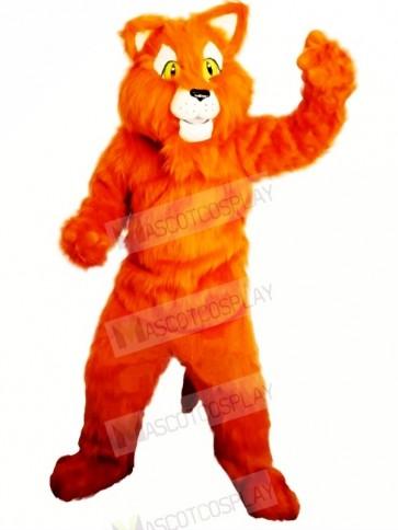 Orange Panther Mascot Costumes Adult