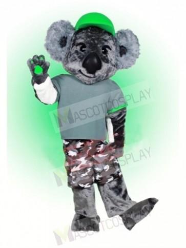 Koala with Green Hat Mascot Costumes Animal