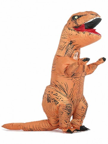 Brown T-REX Dinosaur Inflatable Halloween Christmas Costumes for Kids